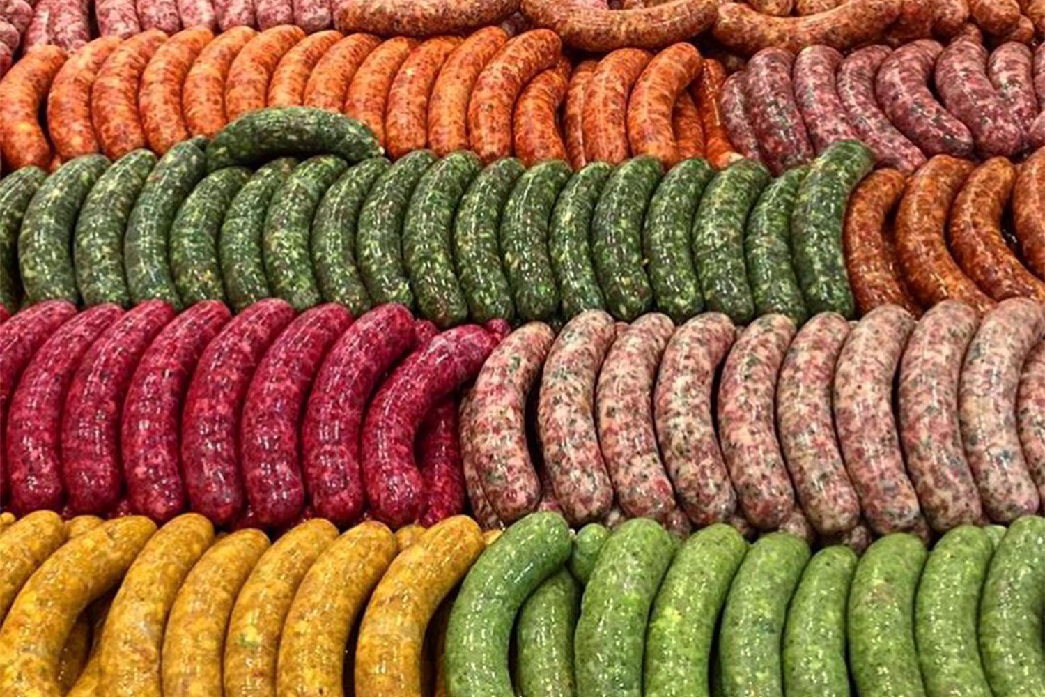 Seemore's stuffed sausages are filled with fresh vegetables