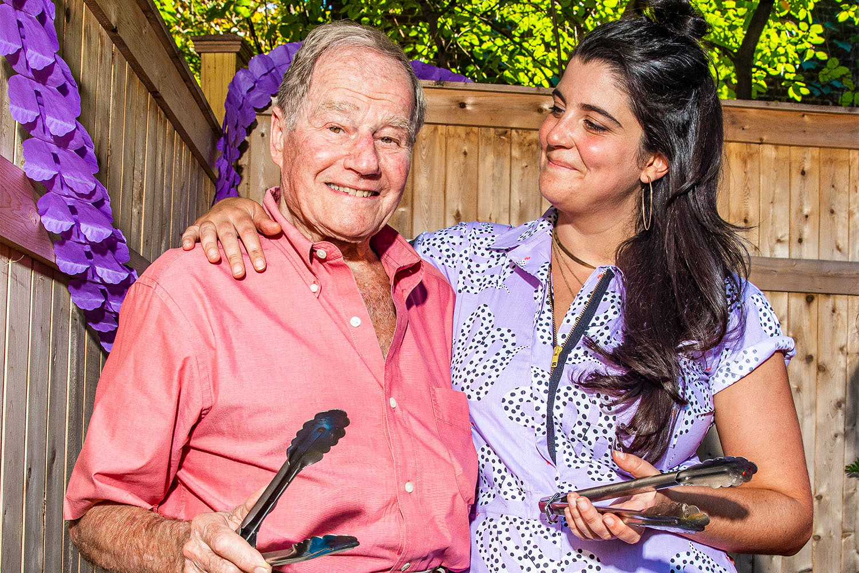 Nicoletti and her grandpa Seymour