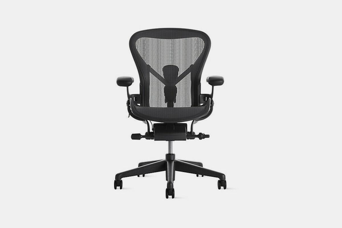 This sleek black, ergonomic office chair from Herman Miller is on sale on Ebay.