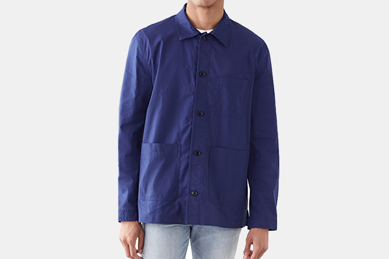 A blue workwear jacket.