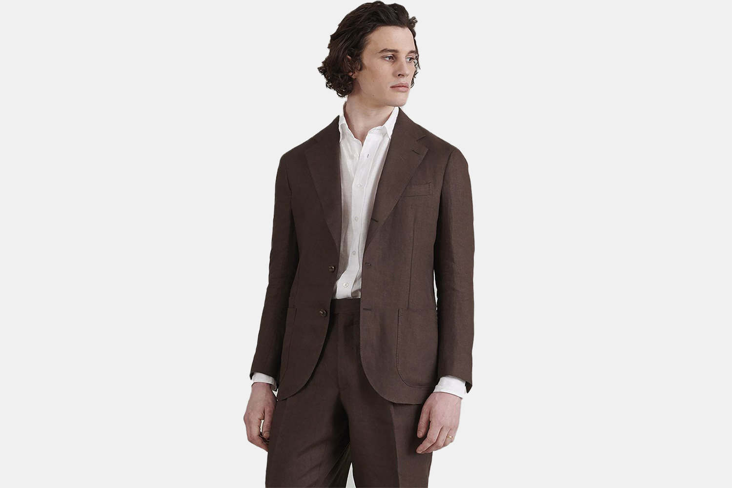 A brown tailored jacket