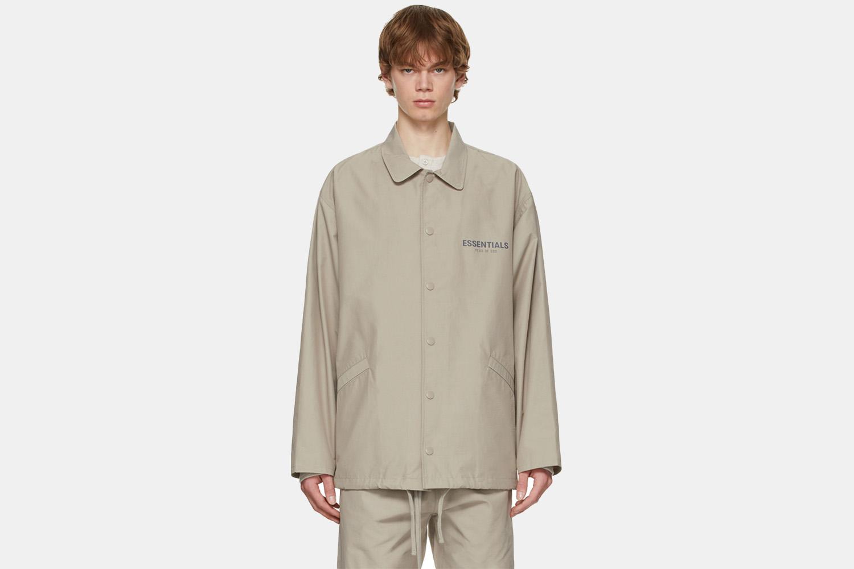 a tan coaches jacket