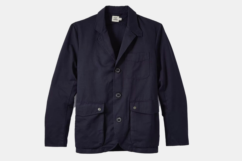 a blue blazer