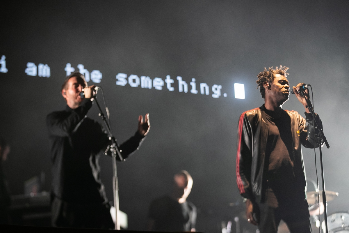 Massive Attack performs during Electric Picnic 2018 at Stradbally Hall Estate on September 1, 2018 in Dublin, Ireland