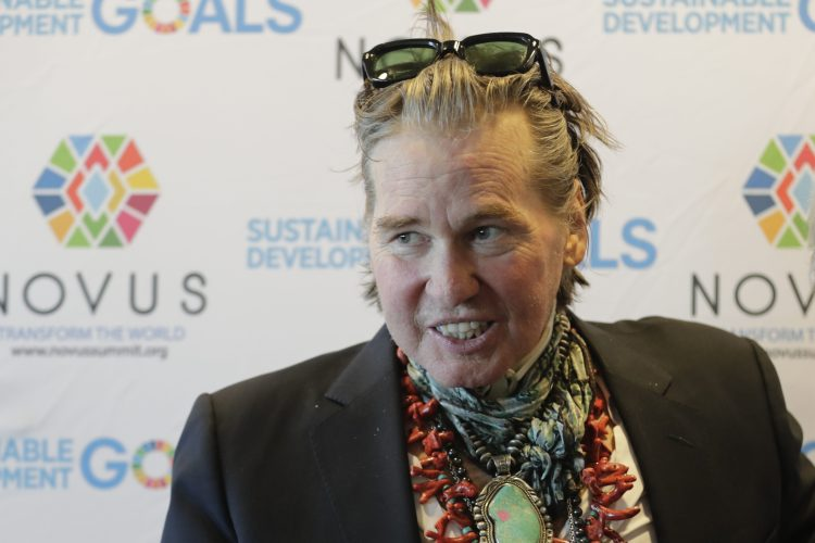 Actor Val Kilmer visits the United Nations headquarters in New York City, New York to promote the 17 Sustainable Development Goals (SDGs) initiative.