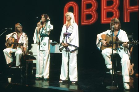 """Abba Performing on """"Midnight Special"""" TV Show. A record number of people have pre-ordered an album from the Swedish pop group, which hasn't released new music in 40 years."""
