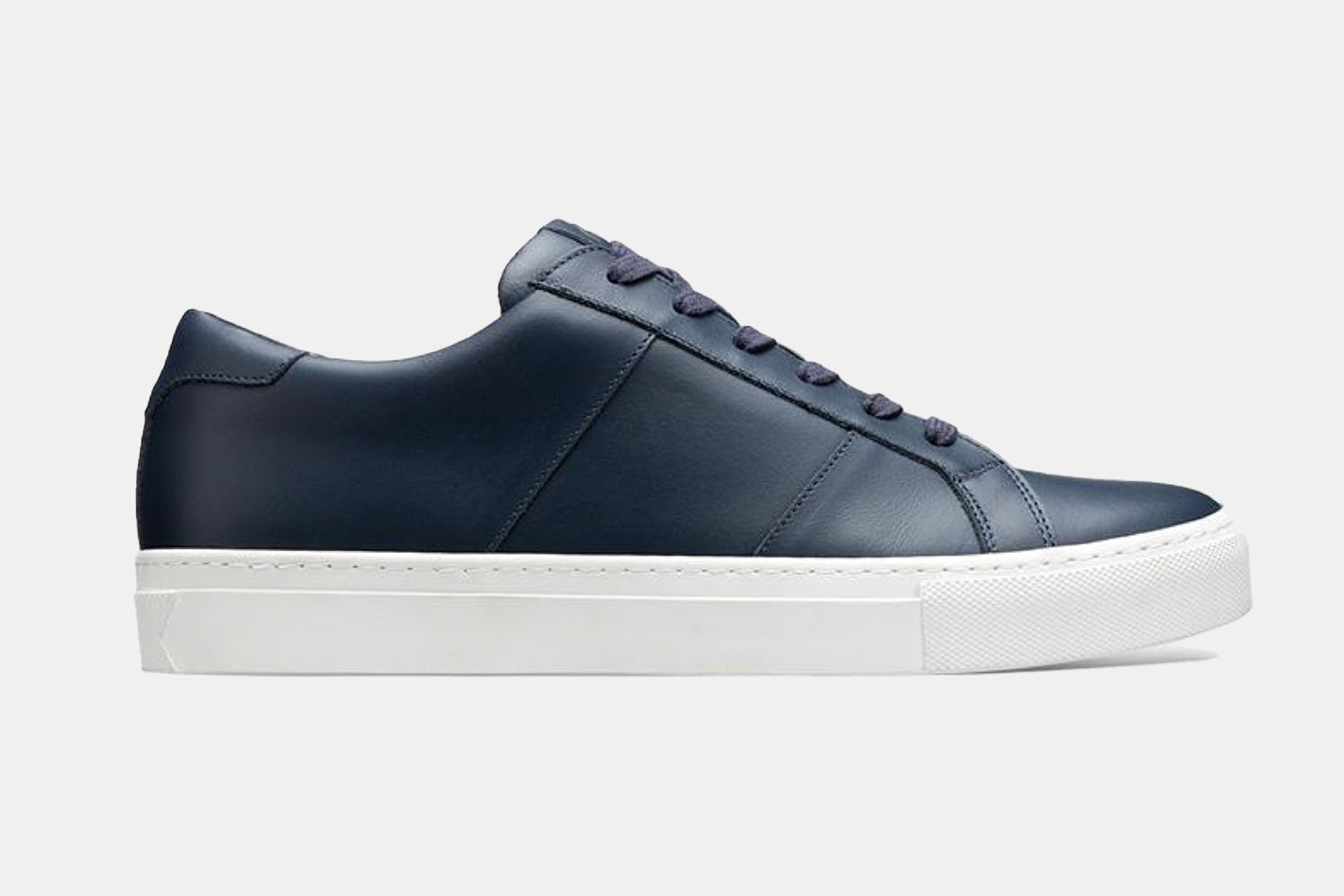 A blue leather sneaker from greats.