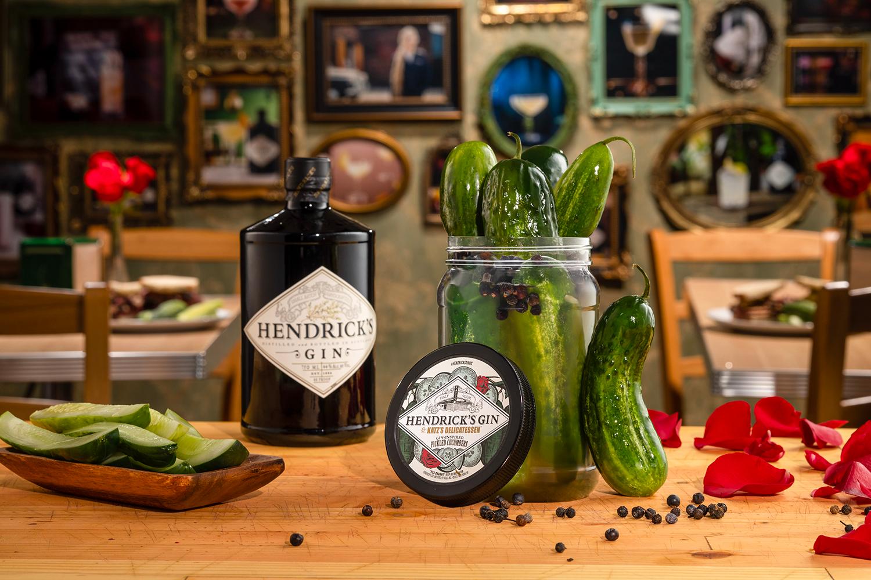 Hendrick's Gin and Katz's Delicatessen Gin-Inspired Pickled Cucumbers