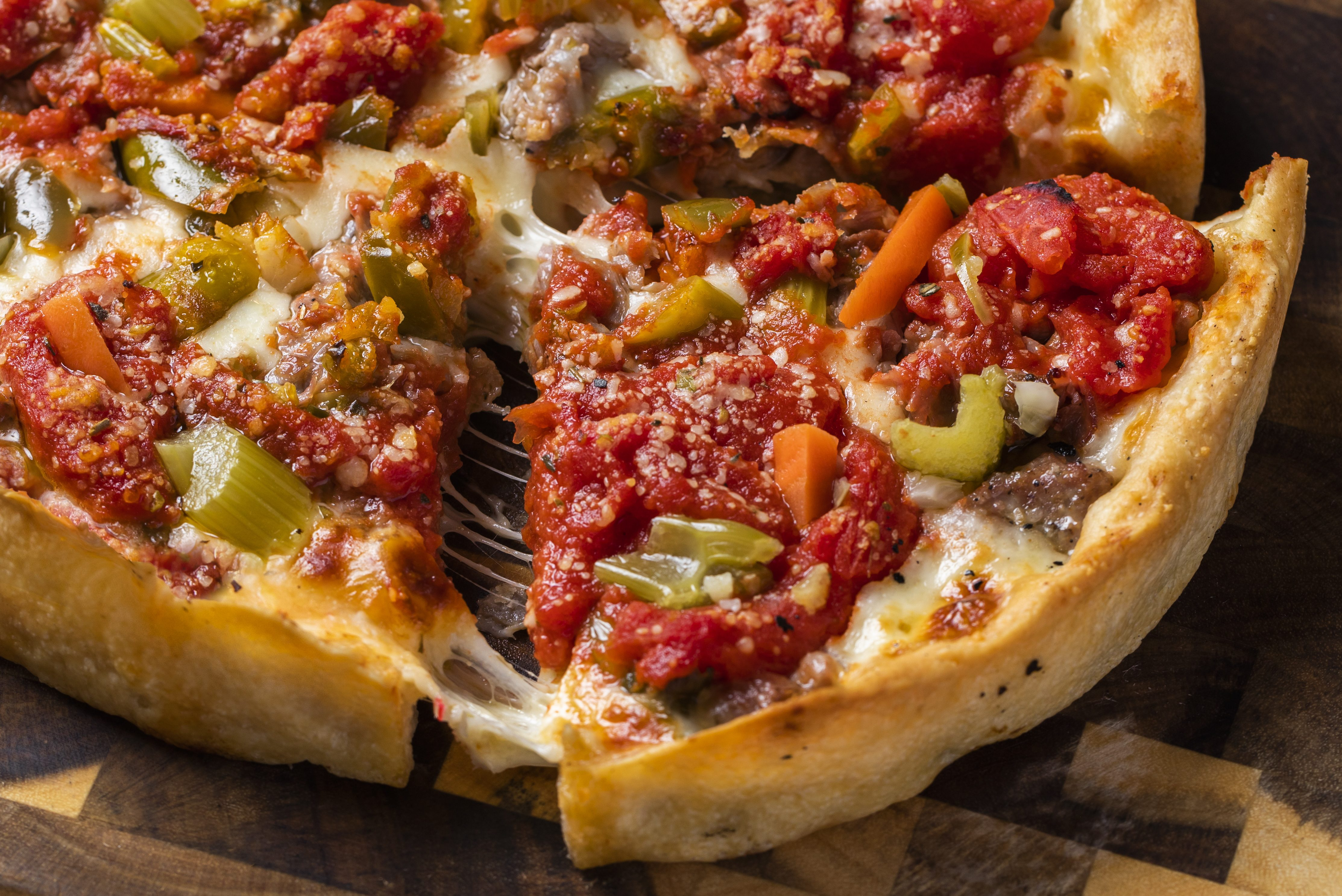 Lou Malnati's is launching an Italian beef and hot giardiniera pizza for National Pizza Month