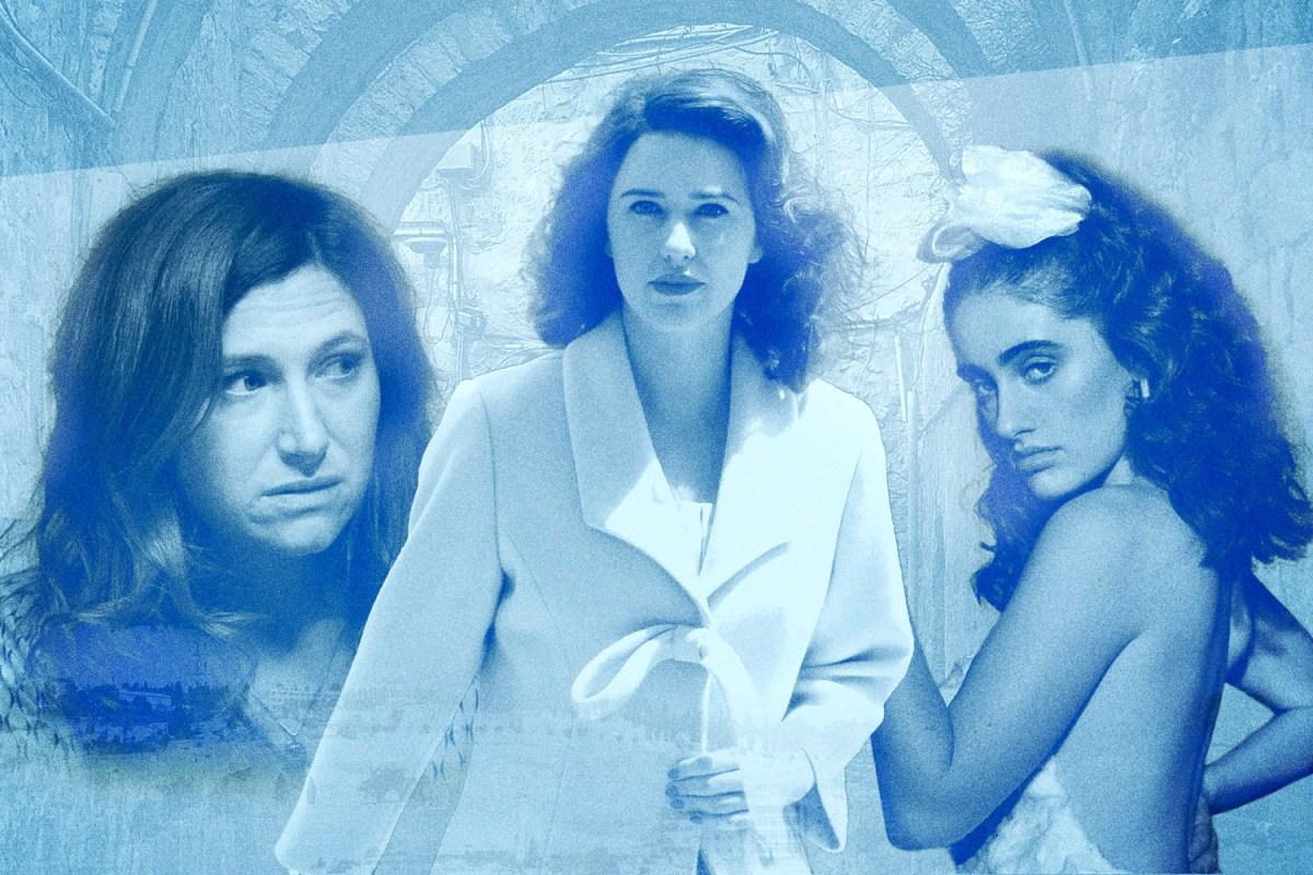 """Kathryn Hahn in """"Transparent,"""" Rachel Brosnahan in """"The Marvelous Mrs. Maisel,"""" and Rachel Sennott in """"Shiva Baby"""""""