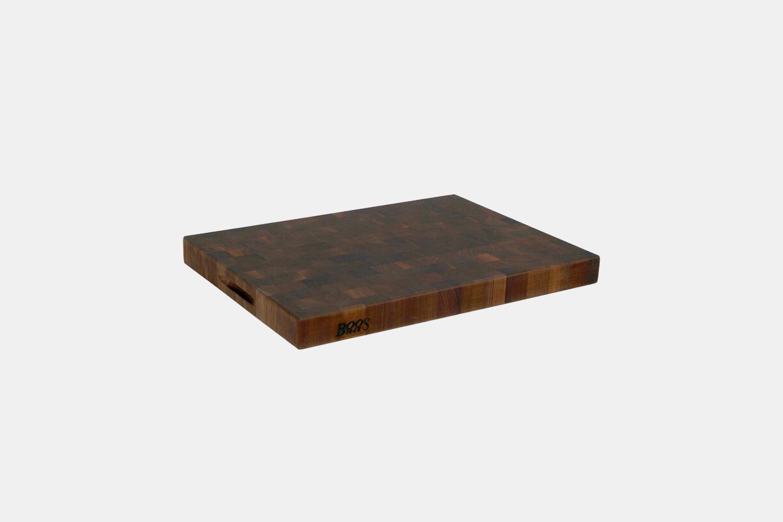 a walnut cutting board.