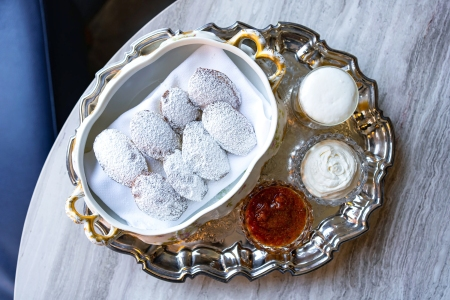 A Michelin-starred chef at DC's Jônt created these powdered madeleines.
