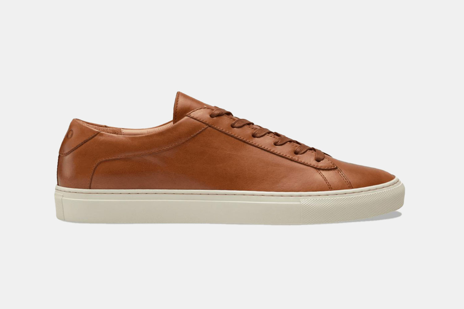 A handsome brown leather sneaker