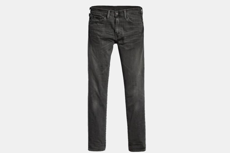 A pair of grey-black Levi's 511 Slim Fit Jeans.