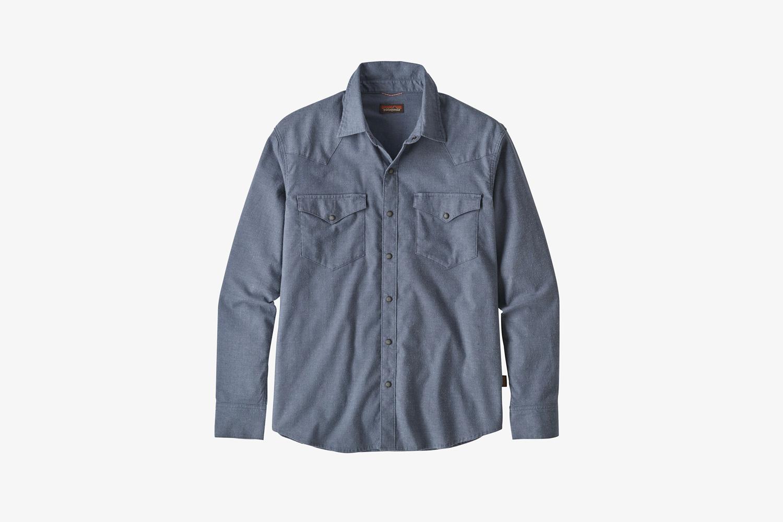 Long-Sleeved Western Snap Shirt