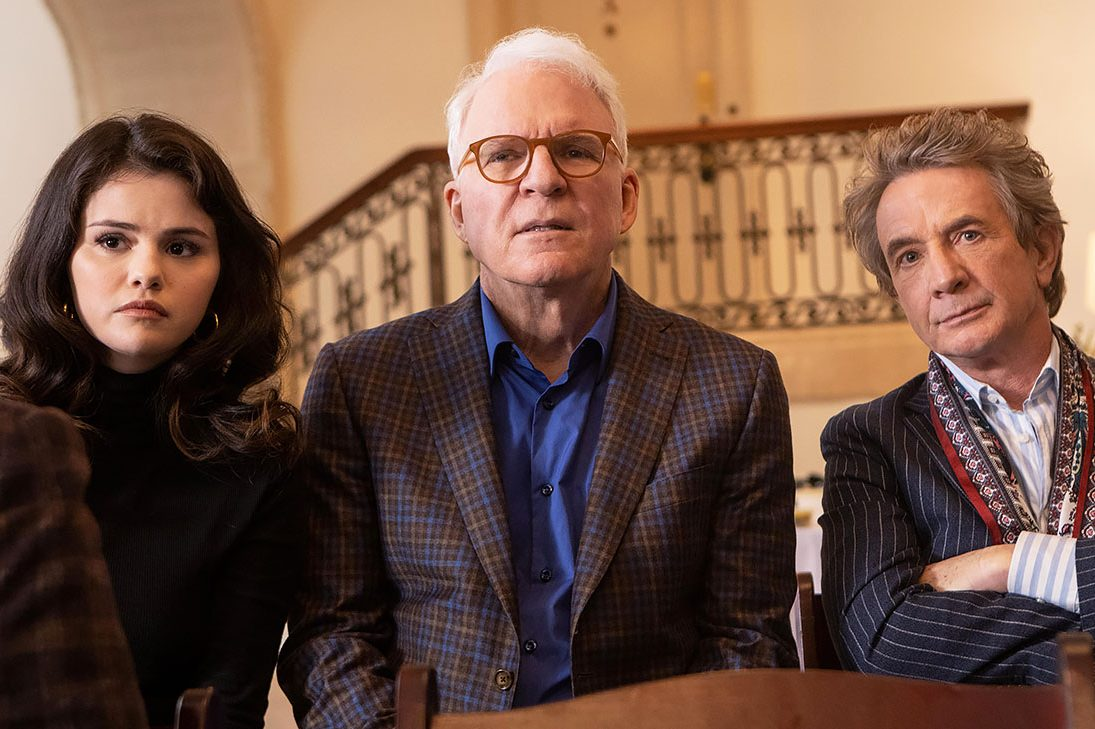 """Selena Gomez, Steve Martin and Martin Short in """"Only Murders in the Building"""""""
