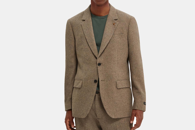 a textured blazer.