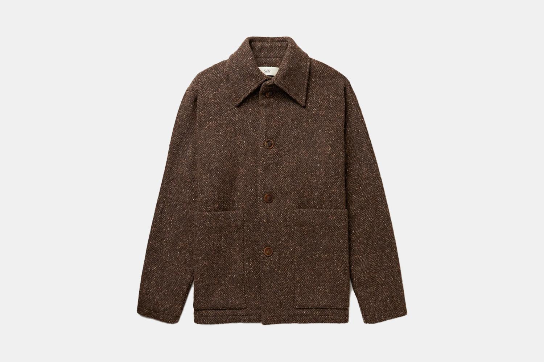 a brown cotton jacket