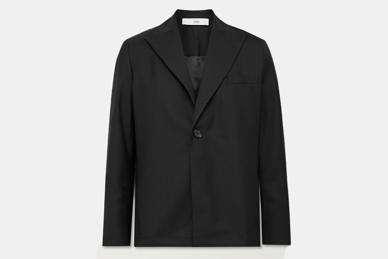 an all black blazer.