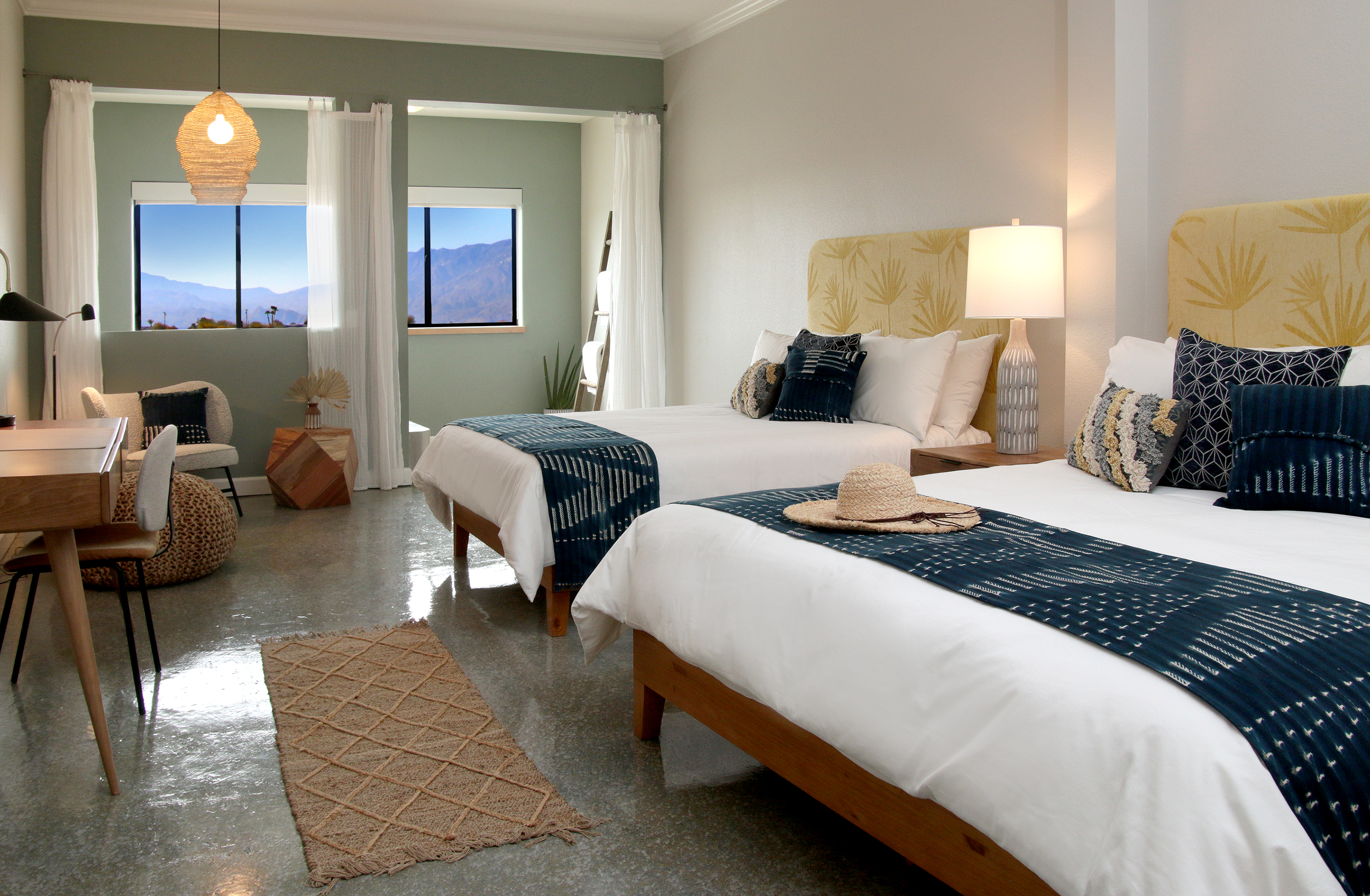 A king and queen Spa Suite at the Azure Palm Springs