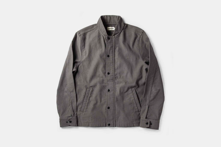 The Bomber Jacket in Charcoal Jungle Cloth