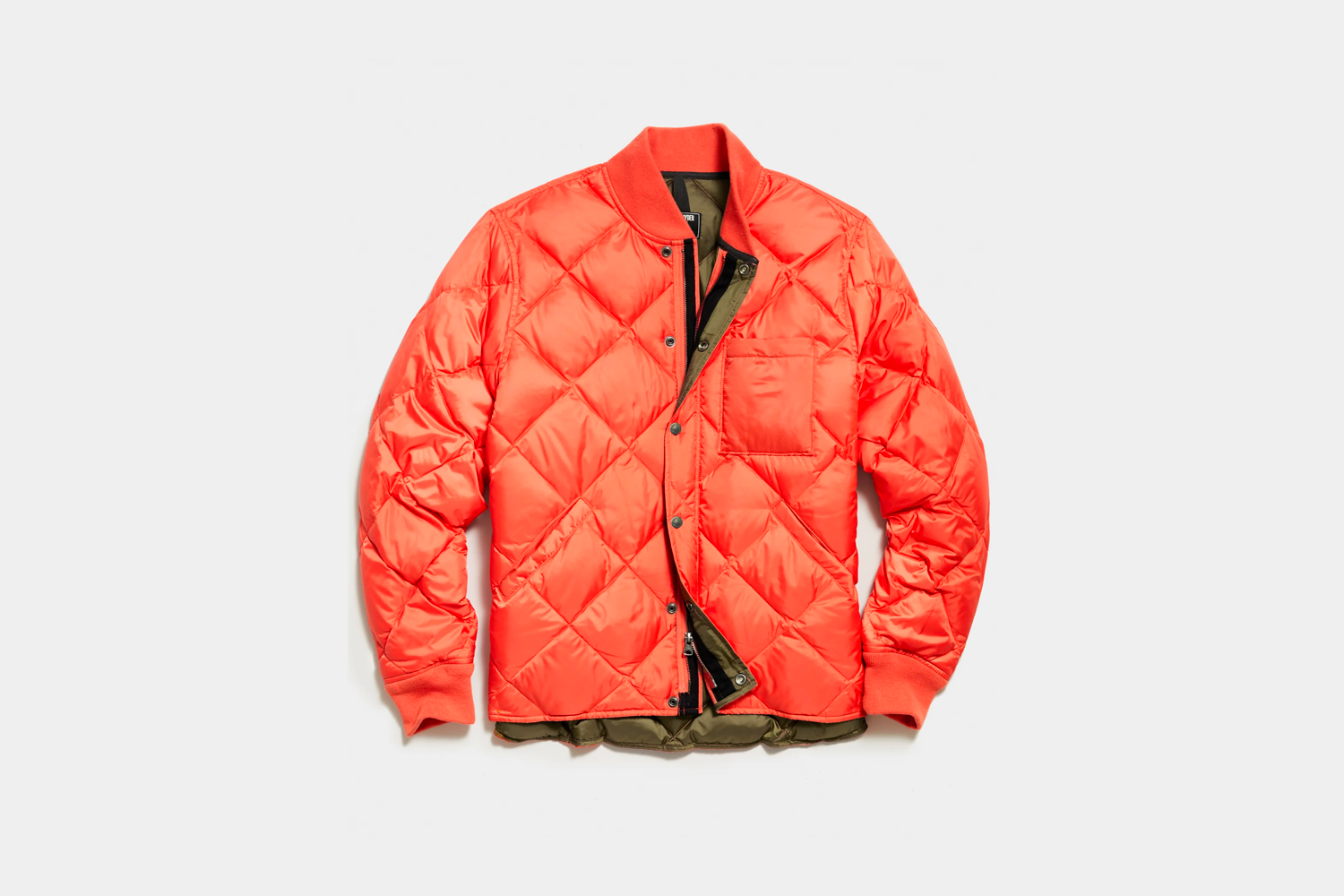 Todd Snyder Japanese Down Quilted Snap Bomber