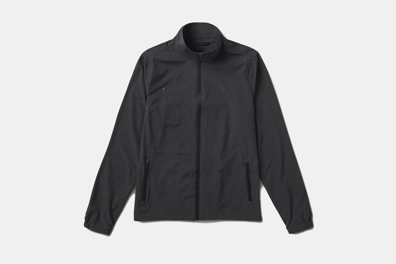 a black track jacket