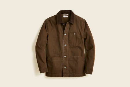 Wallace & Barnes chore jacket with corduroy collar