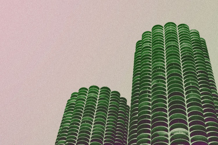 The Marina Towers as seen on Wilco's Yankee Hotel Foxtrot album