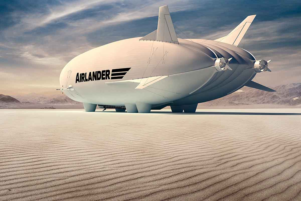 The Airlander 10, a low-emission airship that recently earned renewed attention for its unusual design