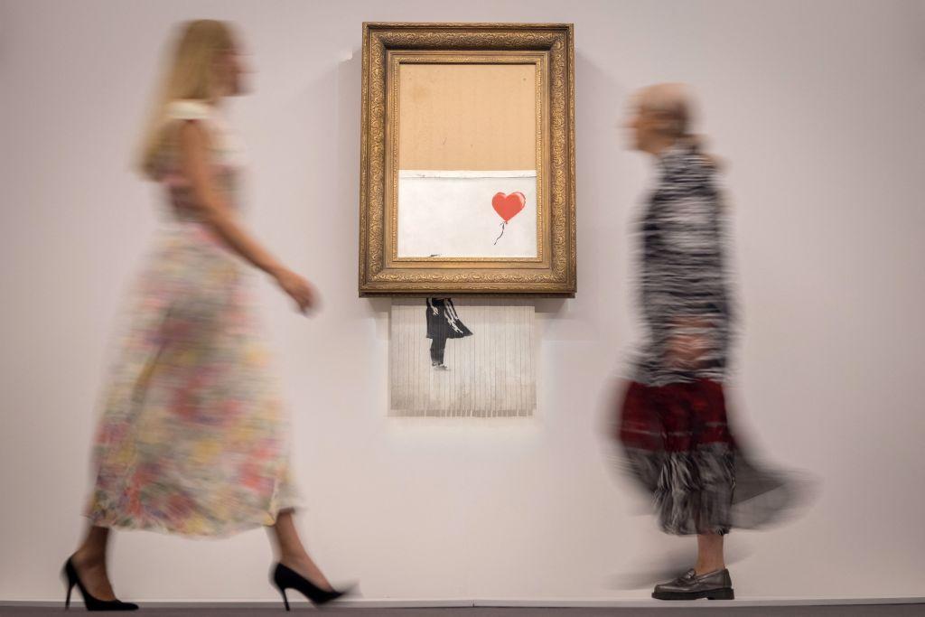 Banksy's shredded painting