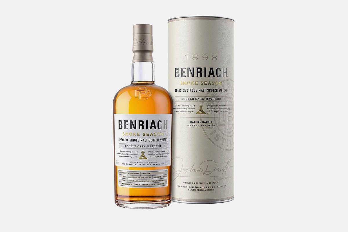 bottle of Benriach Smoke Season