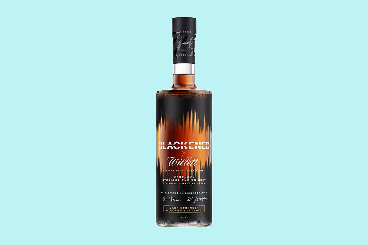 A bottle of Blackened x Willett Masters of Whiskey