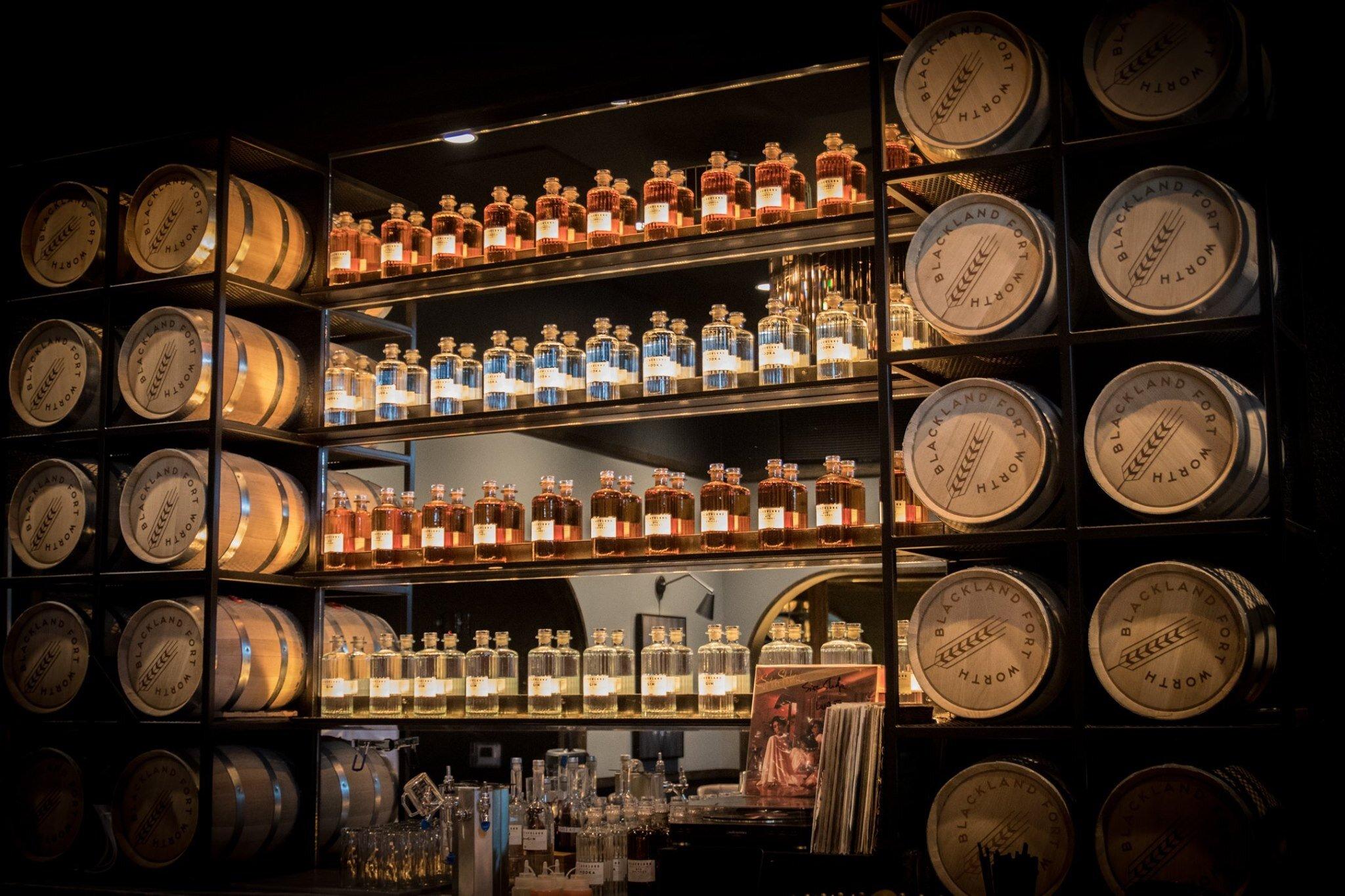 The tasting room at Blackland Distillery