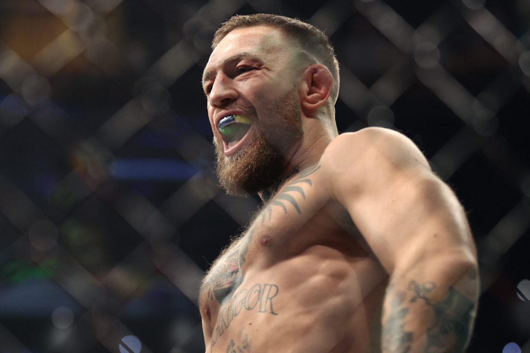 Conor McGregor before losing his lightweight fight with Dustin Poirier at UFC 264. McGregor made most of his money in 2020 not from fighting but endorsements and outside interests.