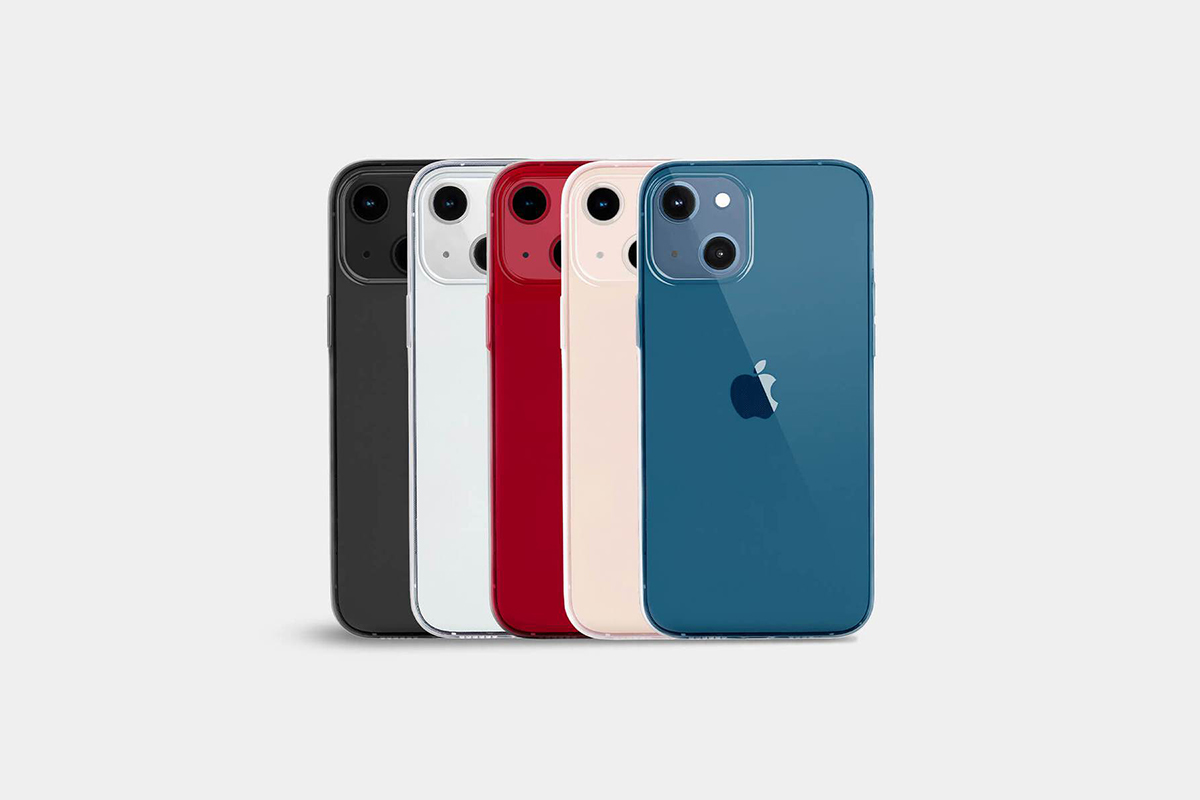 Different colorways of the new Totallee iPhone 13 cases, available now