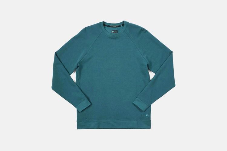 blue janji running pullover