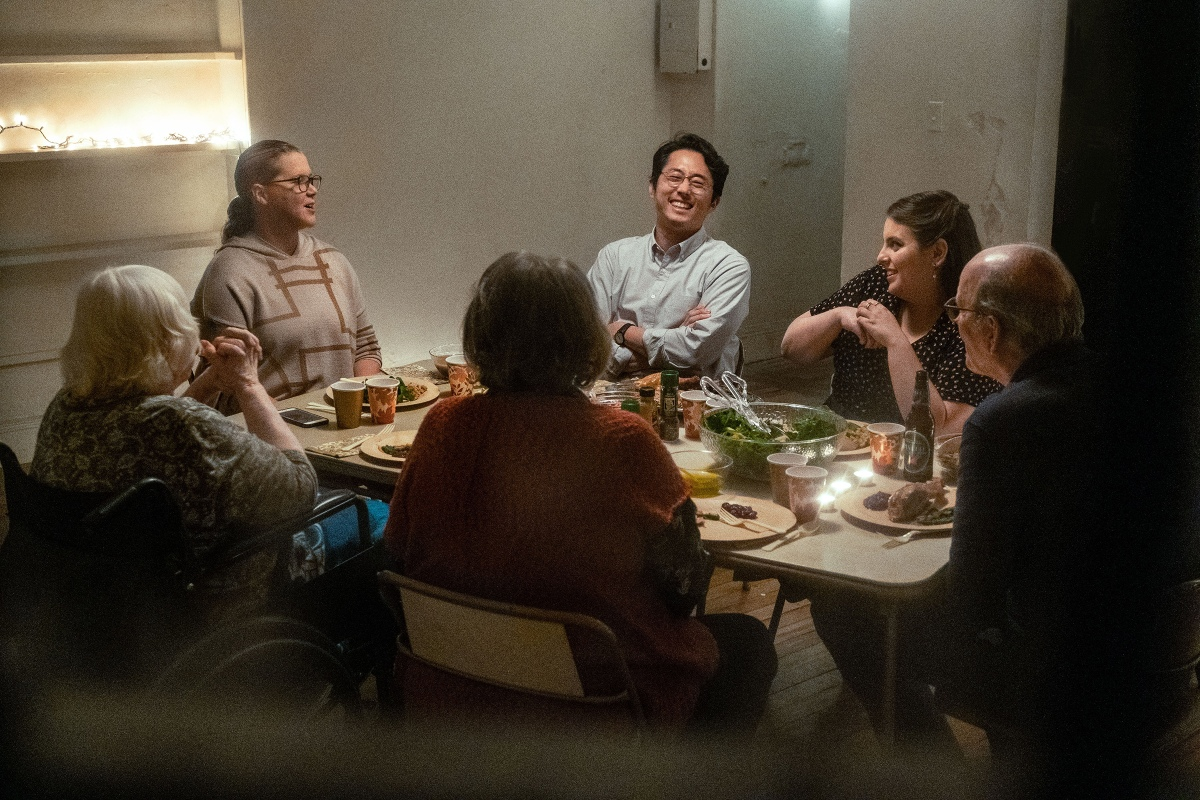"""A family around the Thanksgiving dinner table in the new A24 film """"The Humans"""""""