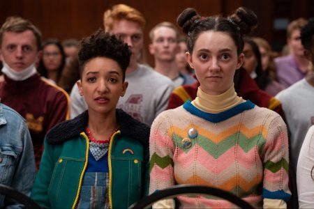 """Ola (Patricia Allison) and Lily (Tanya Reynolds) in the third season of """"Sex Education."""""""