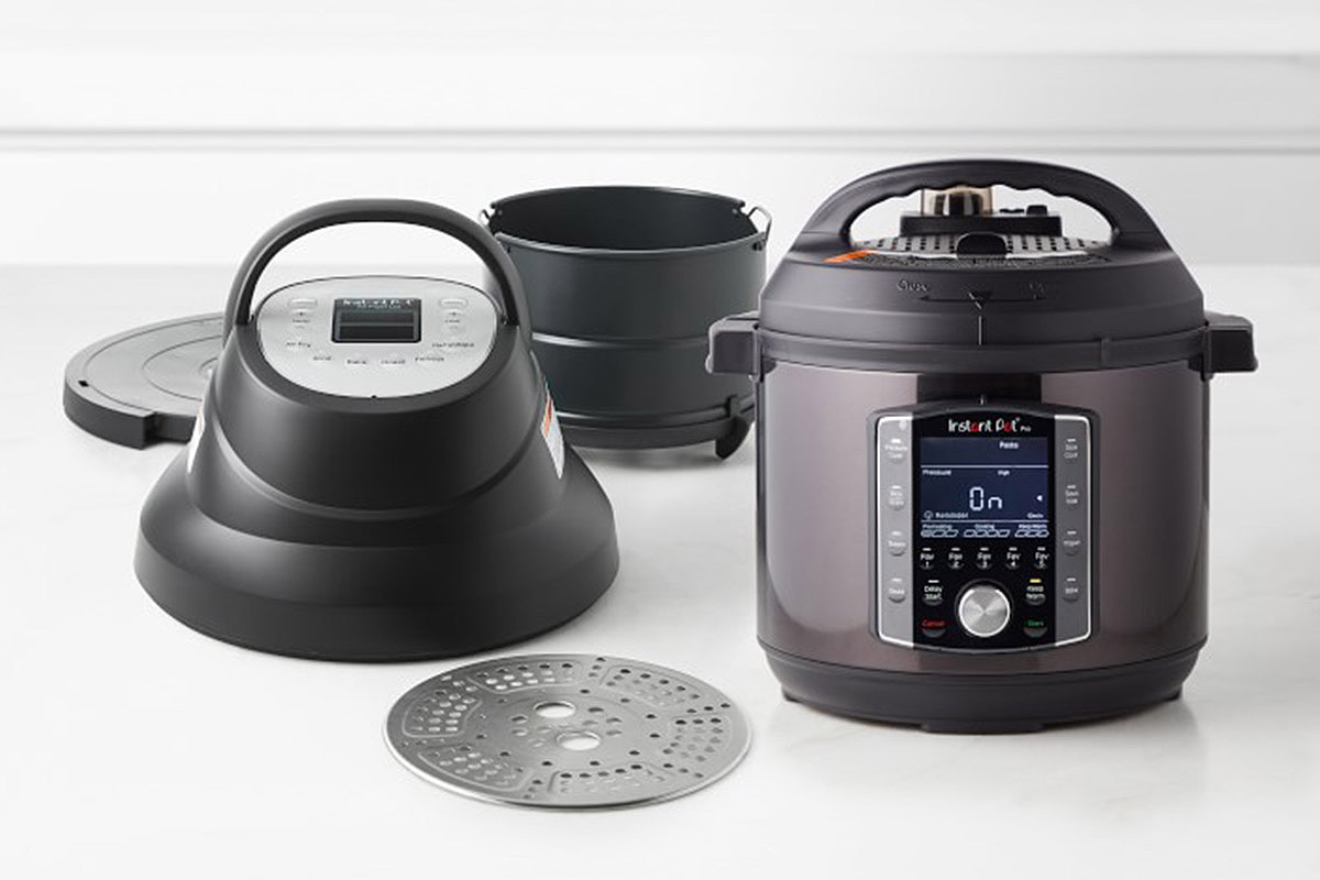 The Instant Pot 6-QT Pro Pressure Cooker + Air Fry Lid Bundle, now 30% off at Williams Sonoma