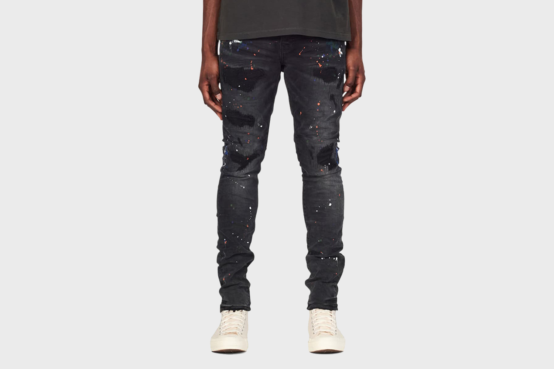 Purple Rip/Repair Paint Jeans