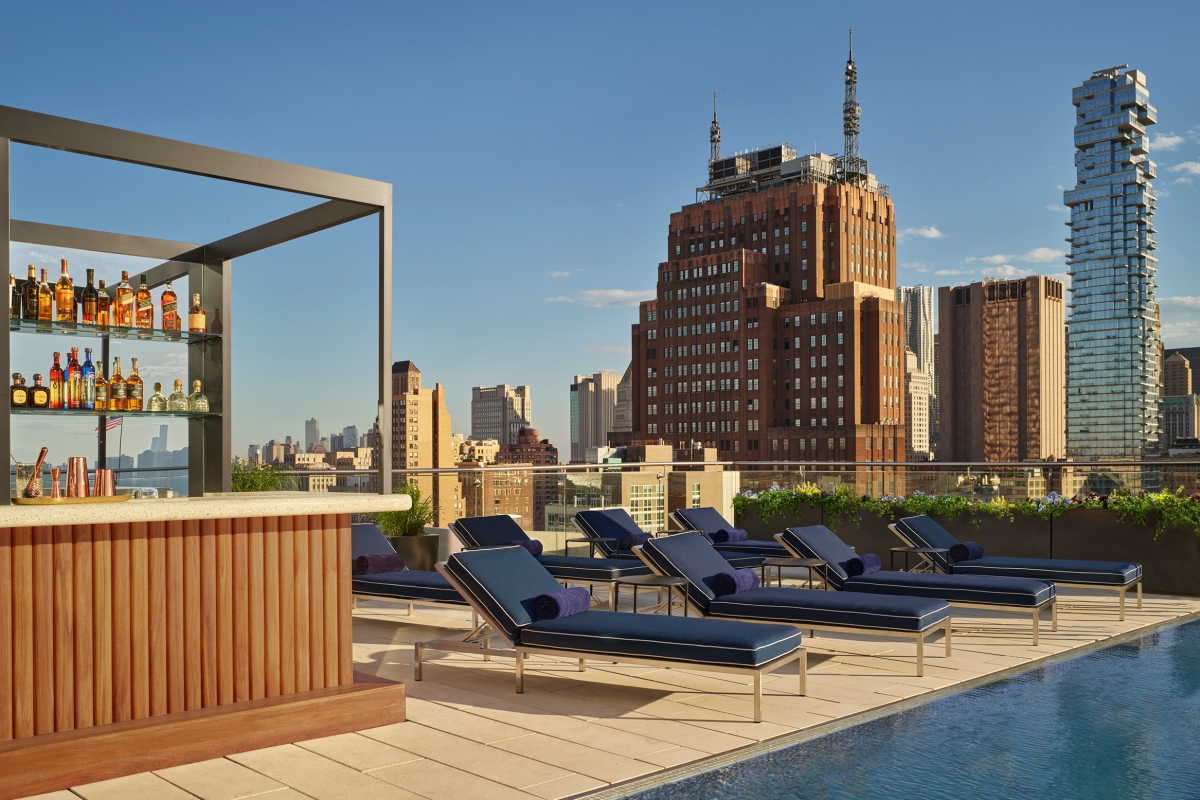 The rooftop Jimmy bar at the Modernhaus Soho, now featuring an outdoor bar