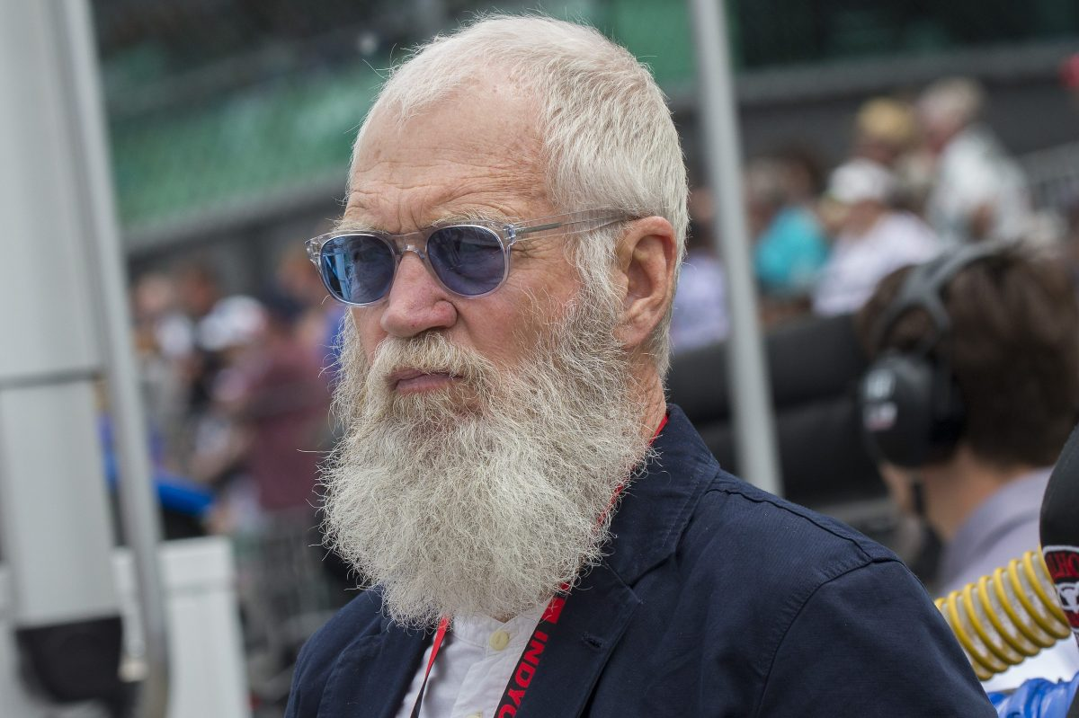 IndyCar team owner and Indiana native David Letterman at the Indianapolis 500. The former late-night talk show host also recently appeared at Brooklyn Nets media day, questioning NBA star Kevin Durant.