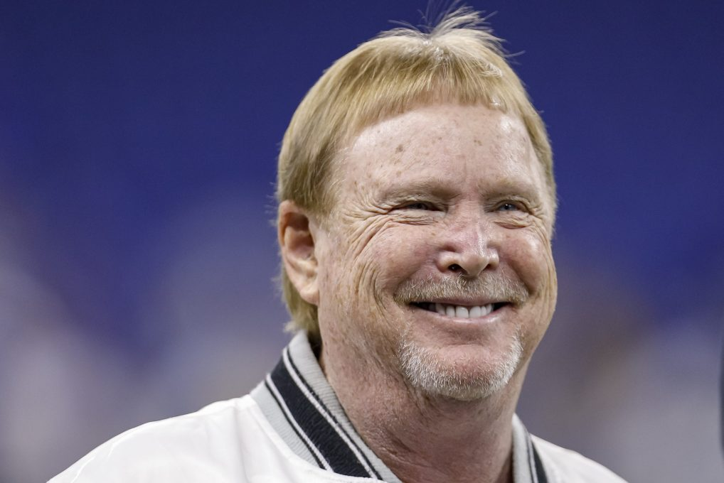 Las Vegas Raiders owner Mark Davis before a game against the Colts. The NFL owner is building a mansion that resembles the Raiders stadium in Las Vegas.