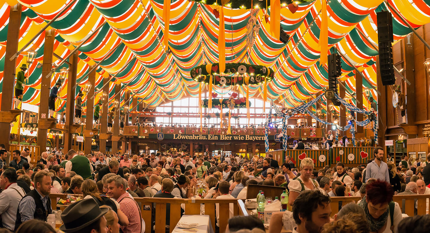 Festival goers gather at Oktoberfest By the Bay in San Francisco.