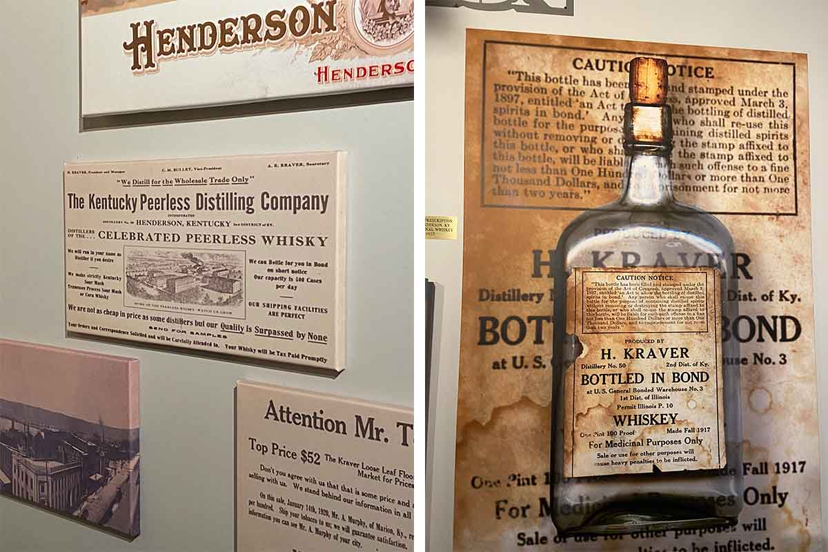 Artifacts from Peerless Whiskey's past