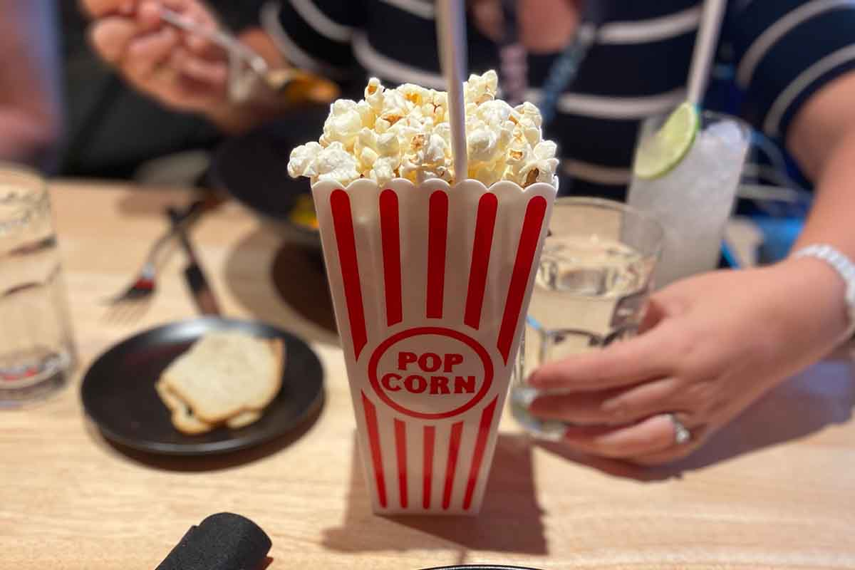 Popcorn Old Fashioned on board the Scarlet Lady
