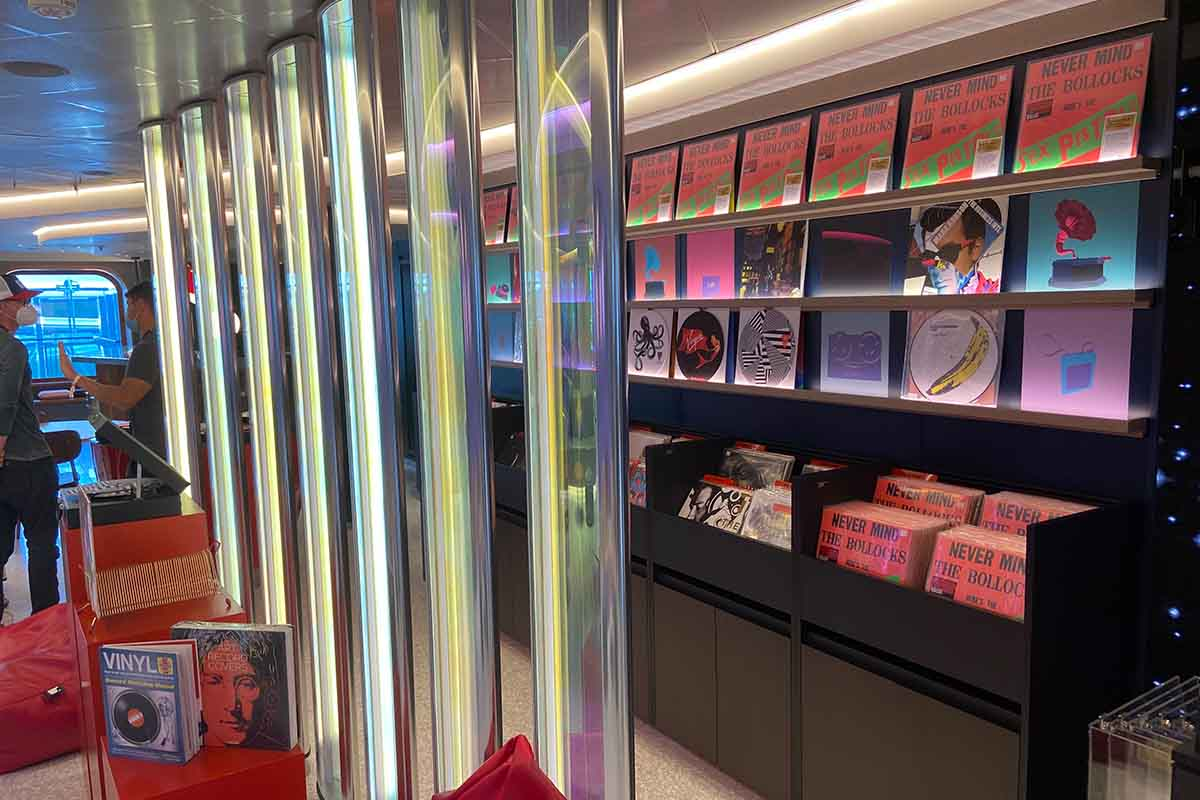 Voyage Vinyl, the onboard record store on The Scarlet Lady