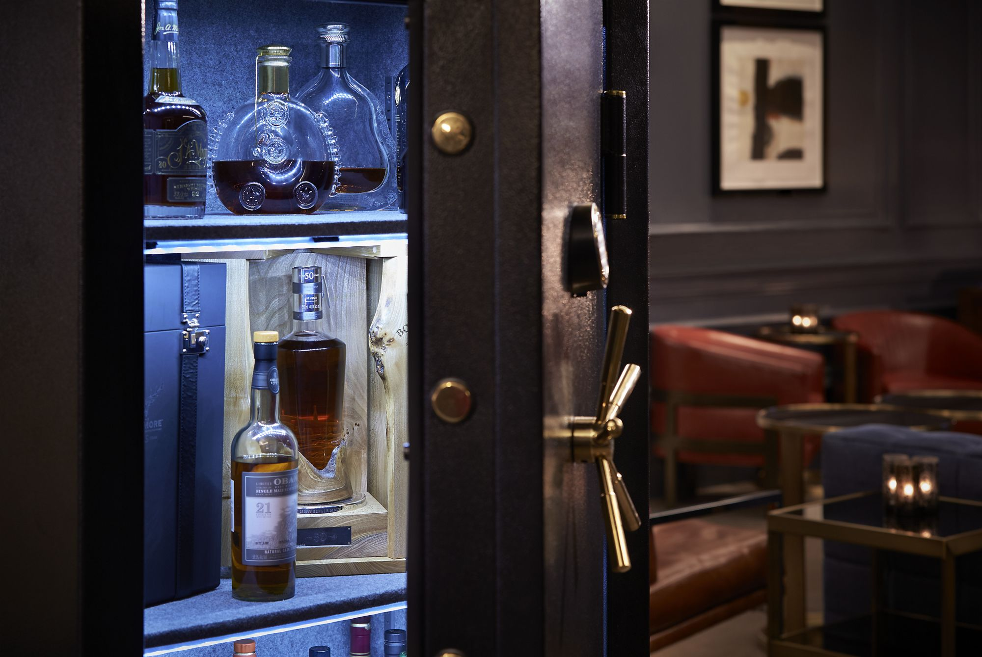 The Vault at the Quadrant Bar at the Ritz Carlton DC houses the rarest whiskeys and spirits on offer