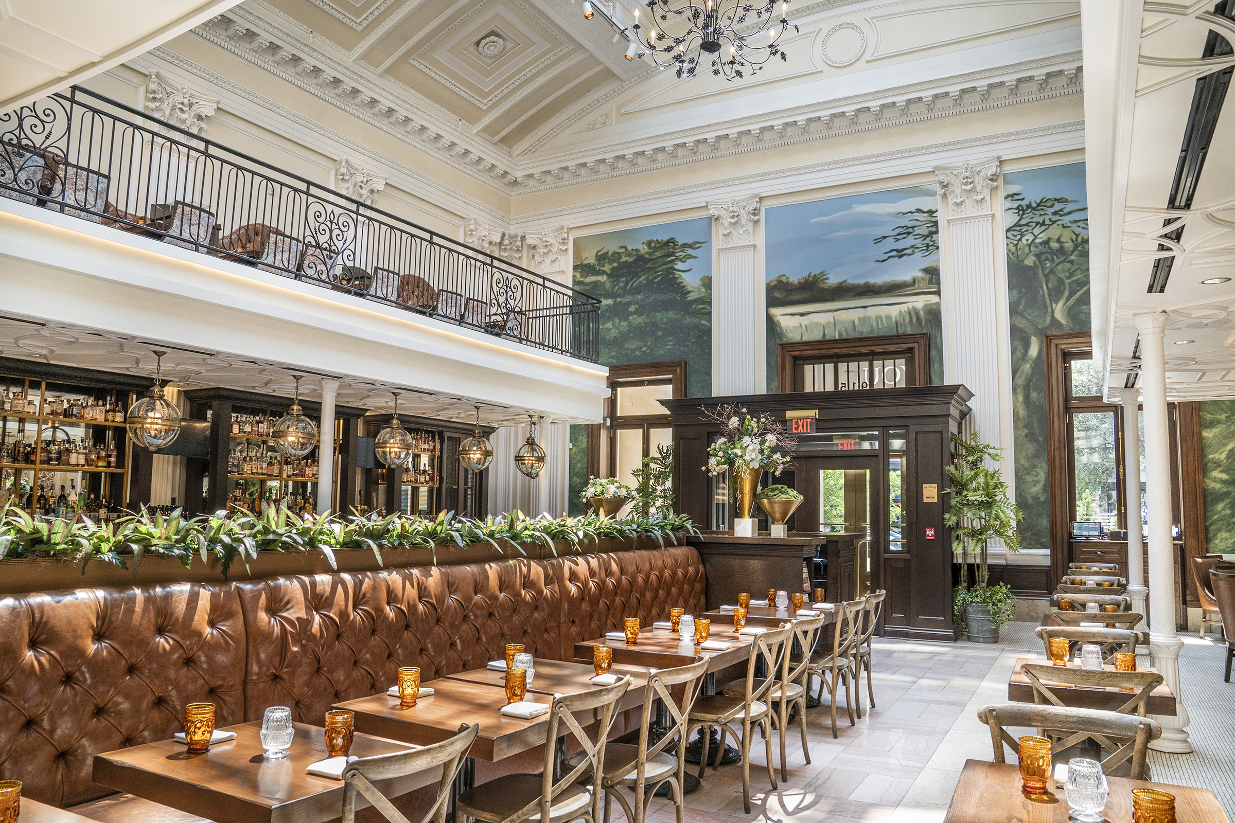 The airy dining room at Succotash Prime